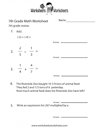 7th Grade Math Worksheets Free Printable For Teachers Seventh ...