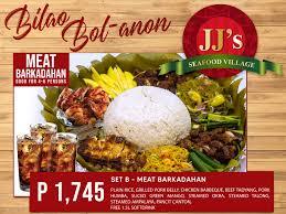 JJ's Seafood Village Bilao Feast Menu ...