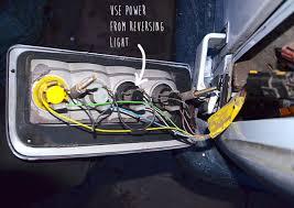 installing parking sensors vandog traveller reverse light connections