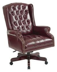 elegant desk chairs. High Back Vinyl Deluxe Tufted Office Chair With Nailhead Accents And Mahogany Finish Base Elegant Desk Chairs