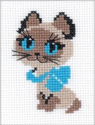 Kitten Color Chart Kitten Counted Cross Stitch Kit