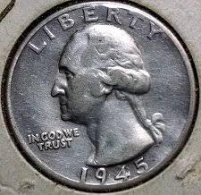1945 S Washington Silver Quarter Coin Value Prices Photos