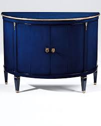 lacquered furniture. blue demilune cabinet lacquered furniture