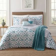 Buy Teal and White Bedding Set from Bed Bath & Beyond & Jennifer Adams Home Lancaster 7-Piece King Comforter Set in White/Teal Adamdwight.com
