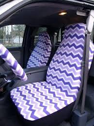 seat covers and steering wheel covers 1 set of purple and white chevron seat covers and seat covers