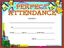 free perfect attendance certificate attendance certificate templates 12 free word pdf formats