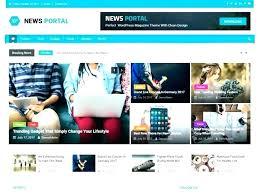 Website Template Newspaper Best Free News Website Templates Newspaper E Template