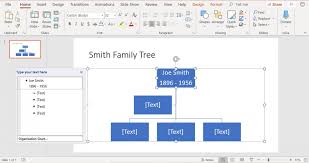 023 Family Tree In Powerpoint R6 Organizational Chart