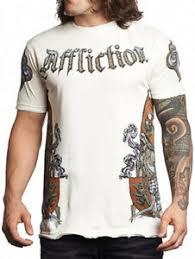 Affliction T Shirt Size Chart Details About Affliction War Medieval Shield Eagle Crest Mens T Shirt Vintage White New Rare
