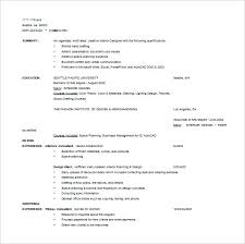 Interior Design Resume Interior Design Resume Template Sample Resume