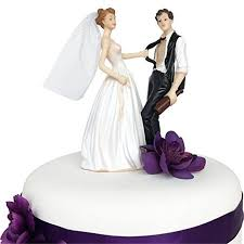 Wedding Cake Topper Funny And Romantic Bride And Drunk Groom