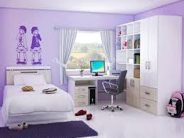 Purple Color Bedroom Enchanting Kid Bedroom Ideas With White Bed And Swivel Chair Using