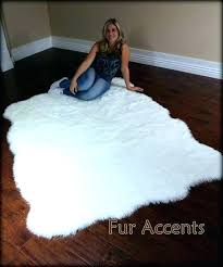 faux sheepskin rug white faux sheepskin rug fur large fleece accent fake pelt by area faux
