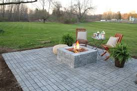luxury paver fire pit how to build a paver patio with a built in fire pit