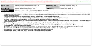rehabilitation counselor resume vocational counselor resume