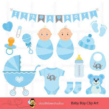Baby Things Clipart Baby Boy Clip Art Set Baby Things Clip Art Baby Boy Digital Etsy
