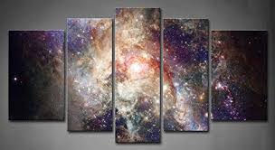 Amazon.com: 5 Panel Wall Art Star Field In Space And A Nebulae Painting The  Picture Print On Canvas Abstract Pictures For Home Decor Decoration Gift  piece ...