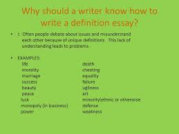 extended definition essay what is a definition essay it is an  why should a writer know how to write a definition essay