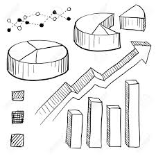 Doodle Style Charts Graphs And Plotting Components Illustration