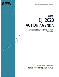 Epas Environmental Justice Strategic Plan 2016 2020