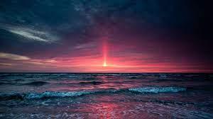 beach night wallpapers sea sand sunset ...