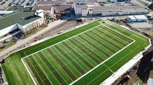 artificial turf field. View From A Drone Of The New NDSS Community FieldNanaimo Ladysmith Public Schools Artificial Turf Field L