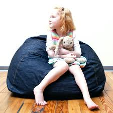 denim bean bag chair ace bayou cover large