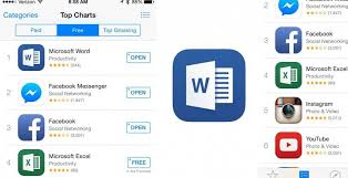 Microsoft Word Tops The Ios App Store Charts Slashgear
