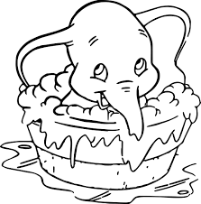 Small Picture Disney Dumbo Elephant Coloring Pages Wecoloringpage