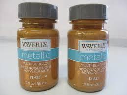 waverly inspirations metallic acrylic paint indoor outdoor copper 2 oz 2 pack 28995606984