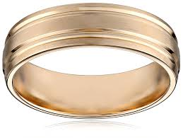 Men S 10k White Gold 6mm Comfort Fit Plain Wedding Band With Satin