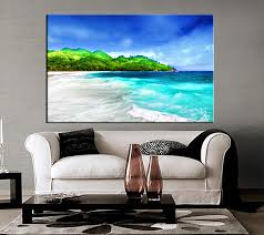 >1 piece green canvas mountain beach artwork 1 piece canvas wall art living art print black and white canvas print