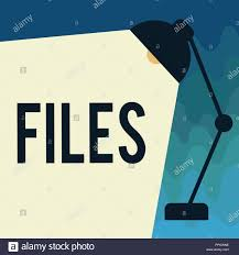 Handwriting Text Files Concept Meaning Folder Box For Holding Loose