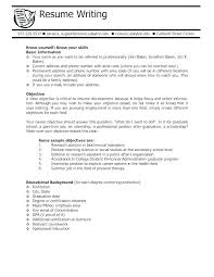 Writing The Objective For A Resume Job Objectives For Resumes