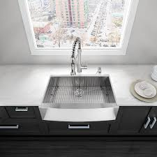 VIGO Farmhouse Apron Front Stainless Steel 36 In Double Bowl Stainless Steel Farmhouse Kitchen Sinks