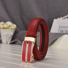 women s automatic buckle leather belt las casual wild leather belt las rhinestone inlaid leather belt