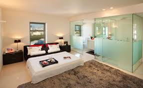 view in gallery bed and bath combination employs a glass filled bath space to allow ample ventilation ample shower room