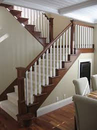 Craftsman Staircase maybe to update stair railing to plement mocha hardwood floors 7836 by xevi.us