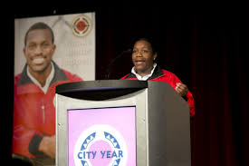 preparing to become a team leader city year chicago dana stigler serves as the team leader for the phillips team here she is sharing her experience during our recent ripples of hope awards dinner in