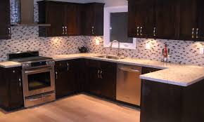 Glass Backsplash In Kitchen Kitchen Glass Mosaic Tile Backsplash For Elegant Kitchen Decor