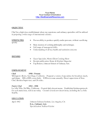 Culinary Resume Templates Tomyumtumweb Com