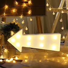 White Led Letter Lights Us 3 71 10 Off Alphabet Led Letter Lights Light Up White Plastic Letters Standing Hanging Arrow Party Holiday Shopwindow Decoration In Led Night