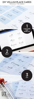 Make Your Own Vellum Place Cards Free Microsoft Word Template And