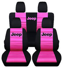 rear black hot pink car seat covers