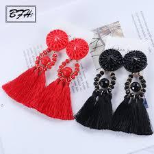 Купить Оптом BFH Fashion <b>Vintage</b> Crystal <b>Tassel</b> Earrings For ...