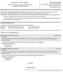 special event manager resume resume templates for management positions