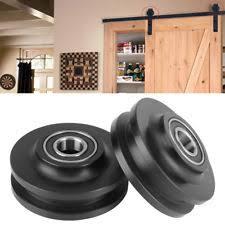 2x home sliding barn door wheel closet hardware roller cabinet window pulley ss
