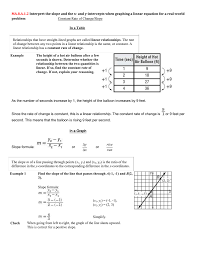 a 1 2 interpret the slope and the x and y