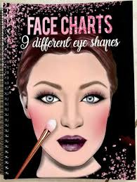 Makeup Face Chart Book For Artists 9 Different Eye Shapes Nationalities New 2