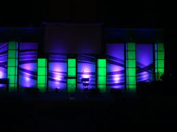 church lighting ideas. fabric light boxes church lighting ideas